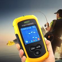 Lucky Brand Fish Finder echo sounder Portable 120m Wireless Alarm 40M/130FT Sonar Depth Ocean River Carp Fishing FFCW1108-1