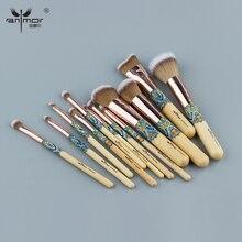 Anmor розовое золото 12 шт.. набор кистей для макияжа уникальные синтетические волосы красивые кисти для макияжа Набор для тональной пудры