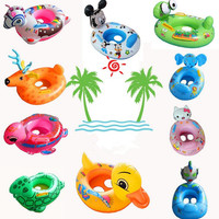 Cute PVC Cartoon Design Pool Float Kids Inflatable Swimming Ring Floating Beach Seat Rings Toy Summer