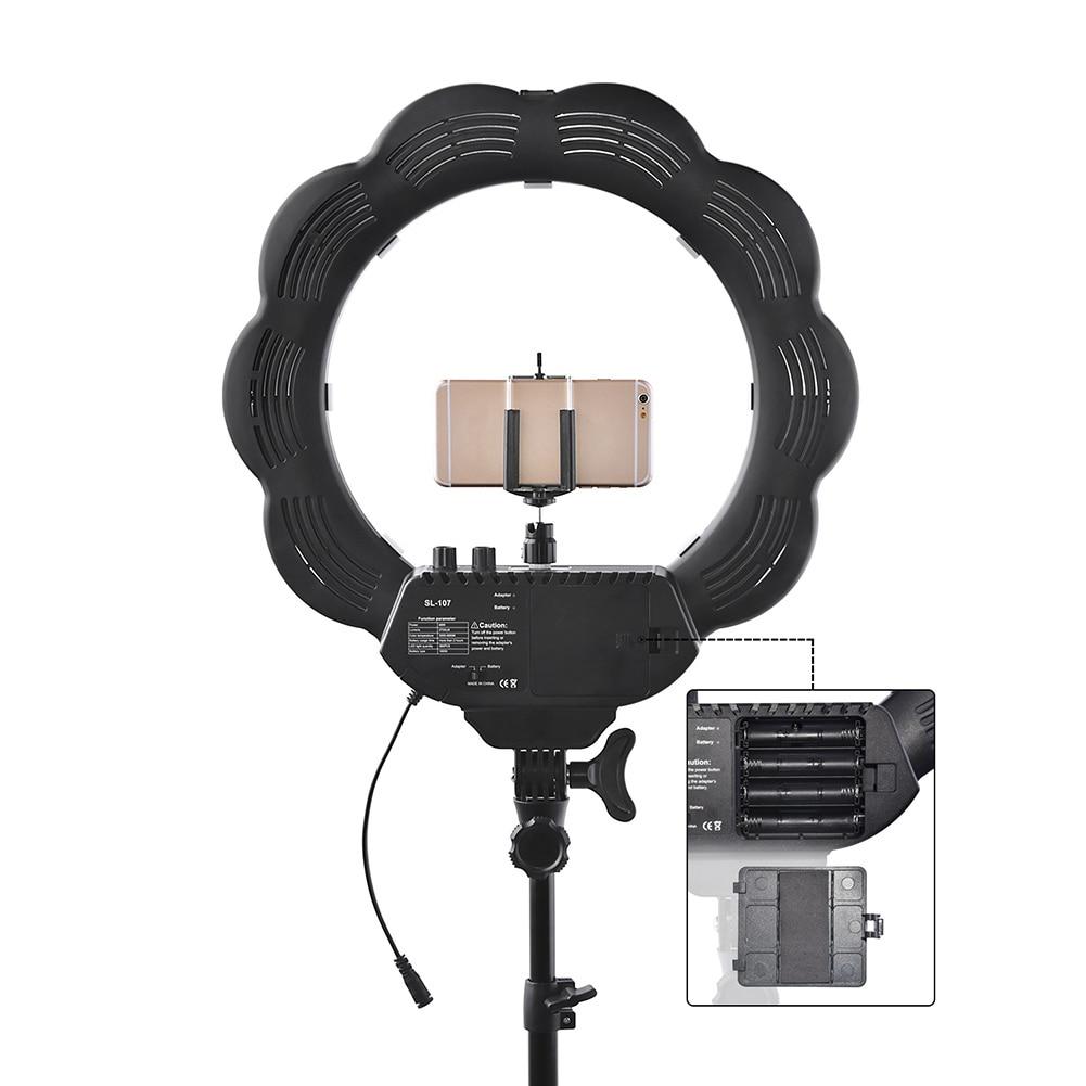 Nouveau Portable de haute qualité Led anneau lumière lampe ensemble Dimmable caméra Photo Studio vidéo photographie éclairage avec trépied miroir @ JH