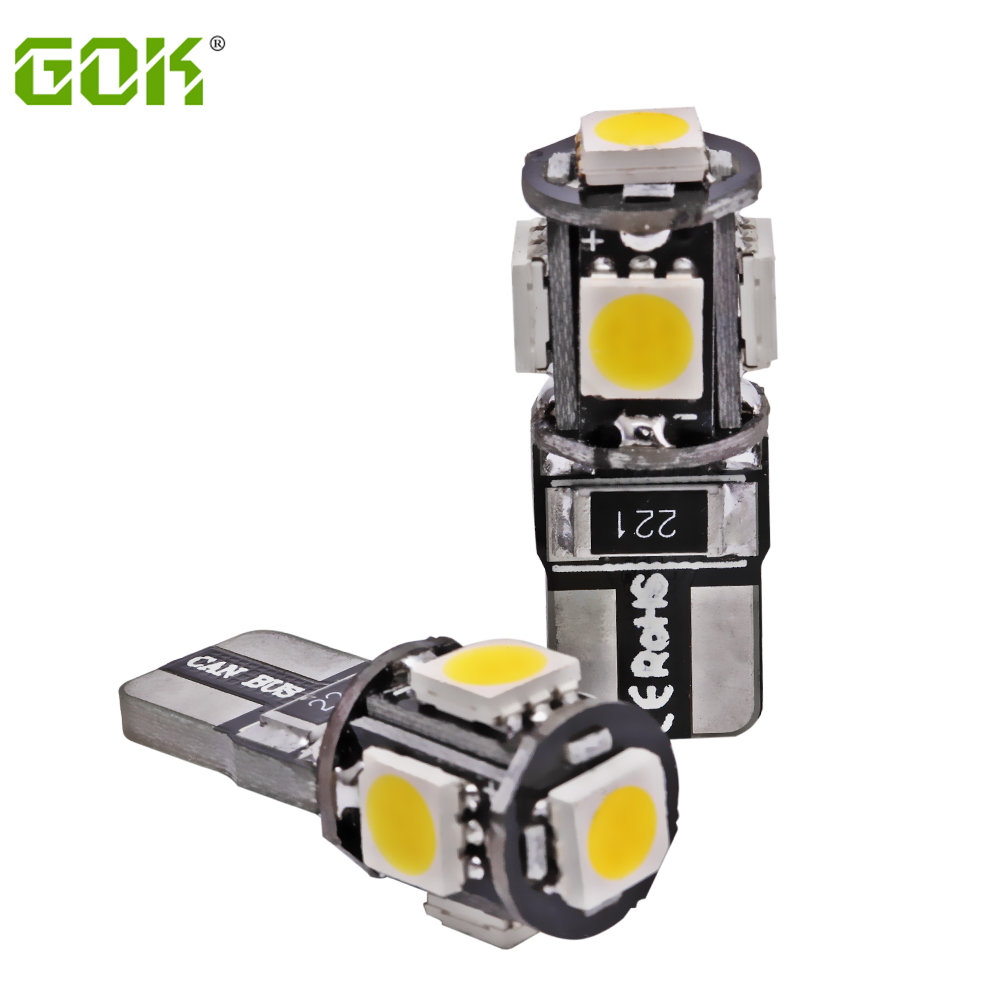 Wholesale T10 5SMD 5050 Led Canbus Car Smd Light + W5w led canbus t10 5led canbus Bulb No Obc Error clearance bulb 50pcs/lot new t10 6 smd 5050 194 w5w 501 led car light colourful led canbus error interior light bulb remote control dc 12v