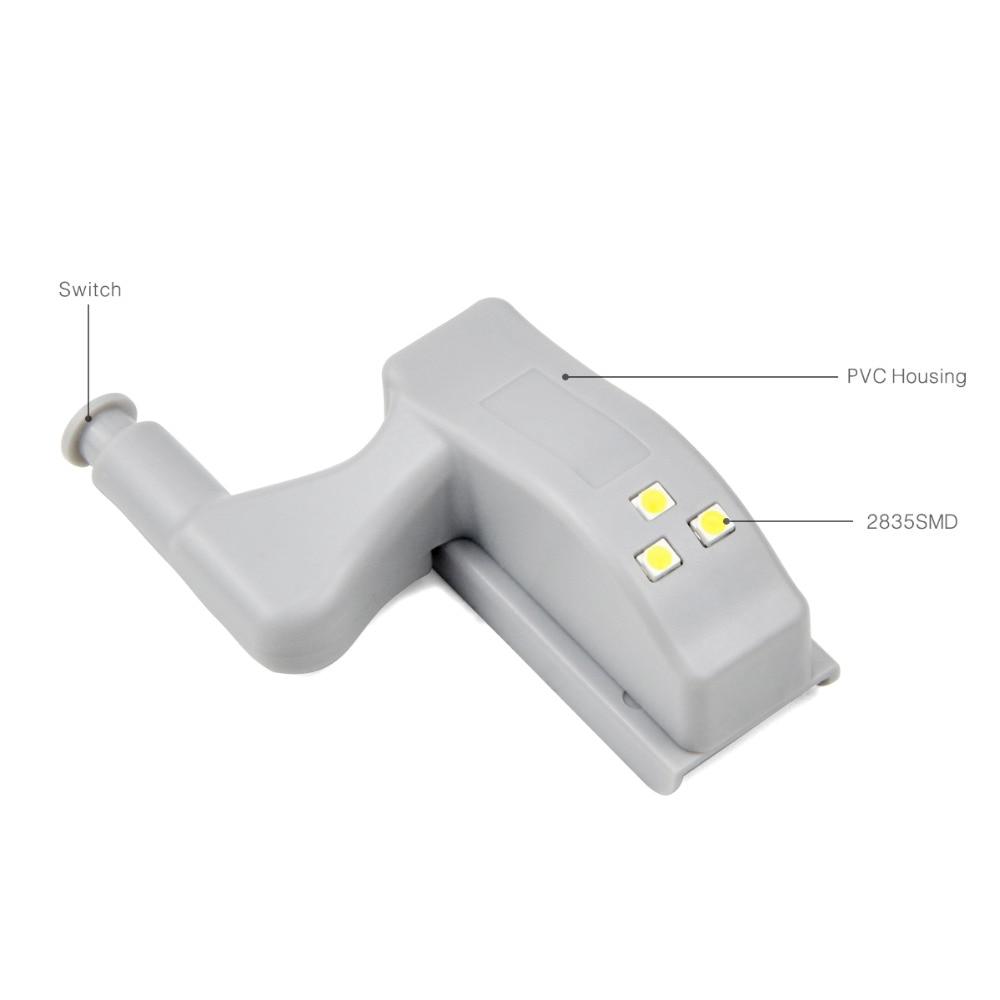 10Pcs Cabinet Light Closet Wardrobe Inner Door Hinge LED Lamp 0.3W 3LEDs  2835 SMD Night Light Auto Switch ON/OFF  In LED Night Lights From Lights U0026  Lighting ...