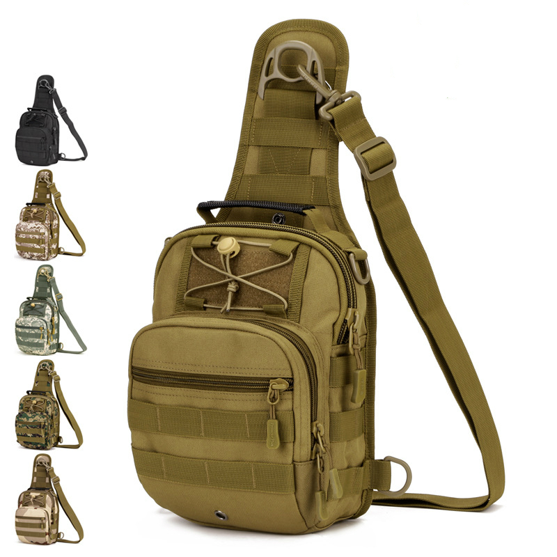 In Military Tacticall Bag Molle Fishing Hiking Hunting Bags Sports Bag Chest Body Sling Single Shoulder Tactical Backpack Dayback Novel Design;