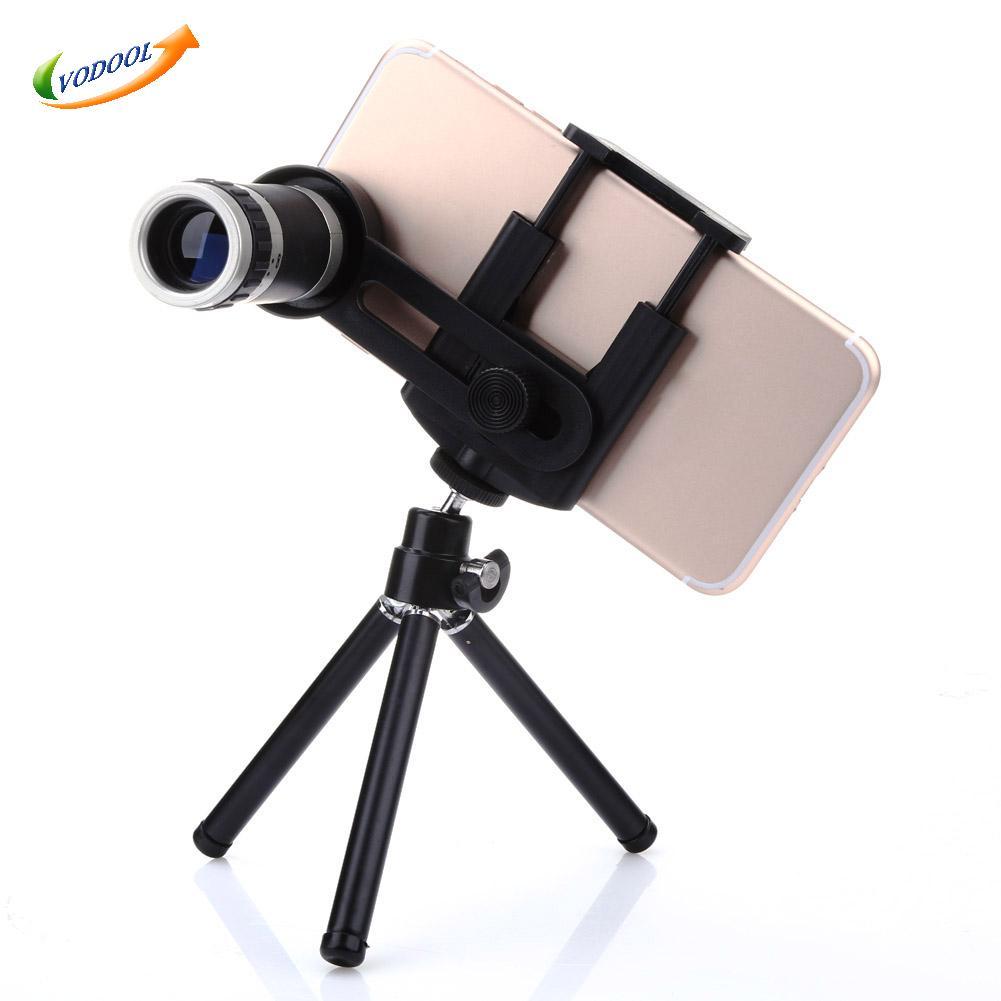 Универсальный Комплект Телефон Камеры 8-КРАТНЫМ Зум-Объектив Телефото Линзы Телескопа С Зажимом Мобильный Штатив Телефон Владельца Для Сот…