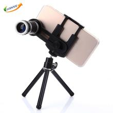 Big sale Universal Phone Camera Kit 8X Lens Zoom Telephoto Lenses Telescope With Clip Mobile Tripod Phone Holder For Cell Smart Phone