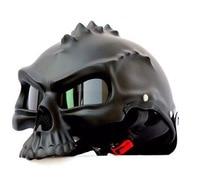Masei Black 489 Dual Use Skull Motorcycle Helmet Capacete Casco Novelty Retro Casque Motorbike Half Face