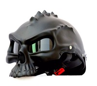 Masei Black 489 Dual Use Skull Motorcycle Helmet Capacete Casco Novelty Retro Casque Motorbike Half Face