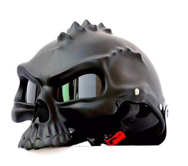 Masei black 489 Dual Use Skull Motorcycle Helmet Capacete Casco Novelty Retro Casque Mot ...