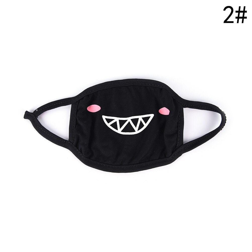 Маска для лица унисекс, хлопковая, Пылезащитная маска для лица, маска для лица, аниме, мультяшная, счастливый медведь, для женщин и мужчин, муфельная маска для лица, Вечерние Маски - Цвет: 2