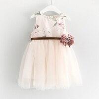 Girl In The Summer Of 2017 The Princess Style Flower Girls Gauze Dress Applique Design Children