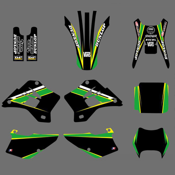 Motorcycle New Style Team Graphics Background Decal Sticker Kit For Kawasaki KDX200 KDX220 KDX 200 220 1995-2008