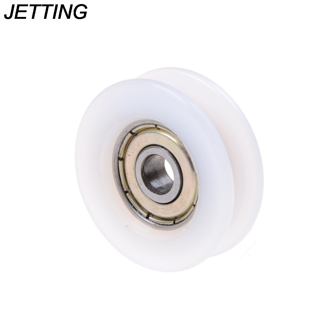 Beautiful Jetting 1pcs 6*30*10mm U Groove Nylon Flexible Ball Bearings Wheels Roller U Groove Pulley Rail Ball Bearing