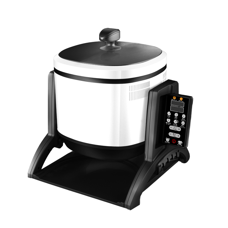 220V Rotatable Multifunctional Electric Cooking Pot Intelligent Automatic Electromagnetic Wok Fry Stirring Machine EU AU UK US in Multicookers from Home Appliances