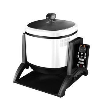 220V Obrotowy Wielofunkcyjny Elektryczny Gar Do Gotowania Inteligentny Automatyczny Elektromagnetyczny Wok Fry-mieszanie Maszyna Ue/AU/UK/US