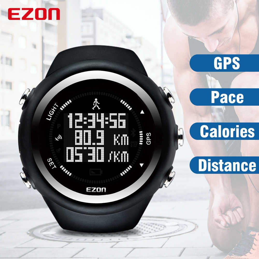 Best Selling EZON T031 GPS Timing Fitness Watch Sport Outdoor Waterproof Digital Watch Speed Distance Calorie Counter Men Watch