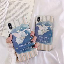 Cartoon Dumbo Stars phone case For iphone XS MAX XR X Cute Dream 6 6s 7 8plus back cover Silicone