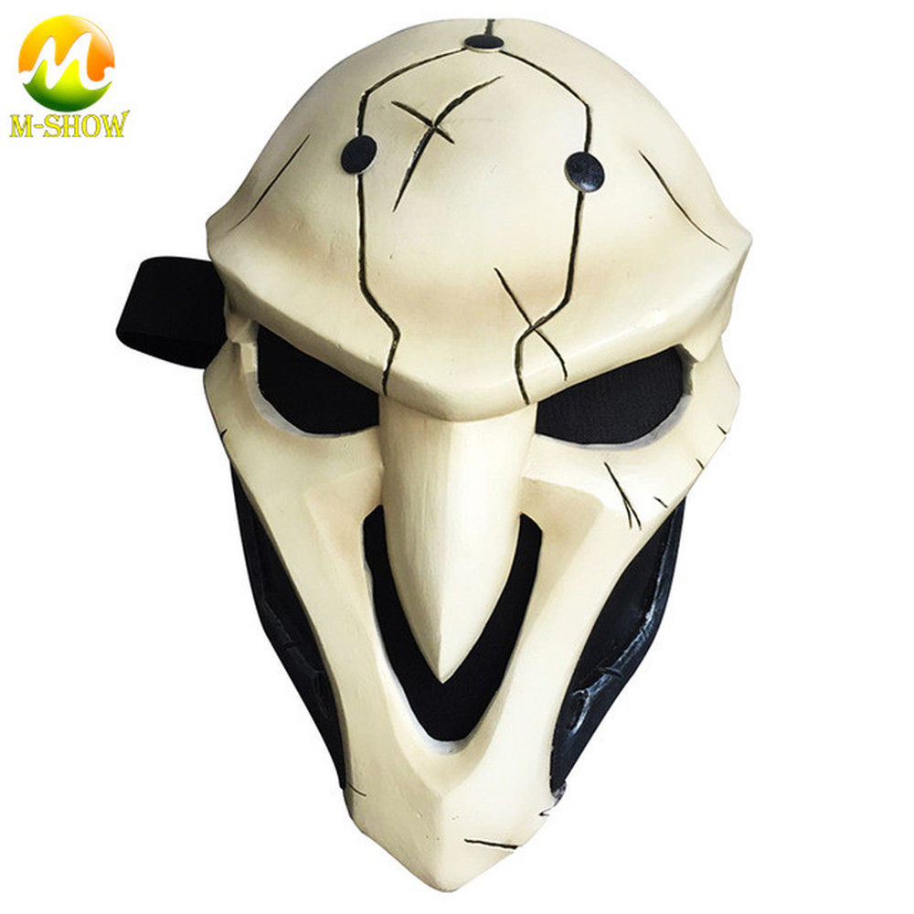 OW Reaper Mask Overwatch Cosplay Mask For Men Women FRP ABS Mask with sponge