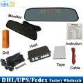 DHL/Fedex/UPS 50pcs/lot Car rearview mirror monitor parking sensor LED display with 4 sensors PZ306 parktronic
