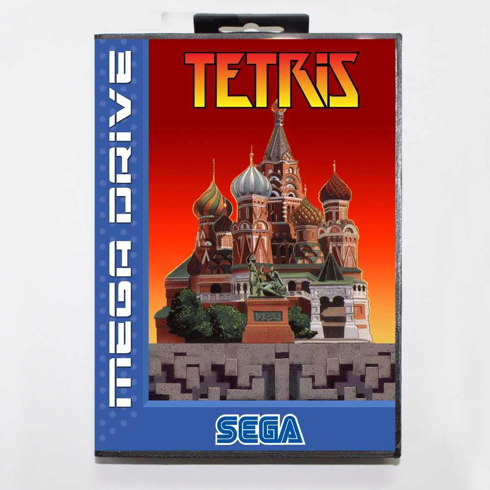 Tetris 16 bit MD Game Card With Retail Box  For Sega Mega Drive For Genesis
