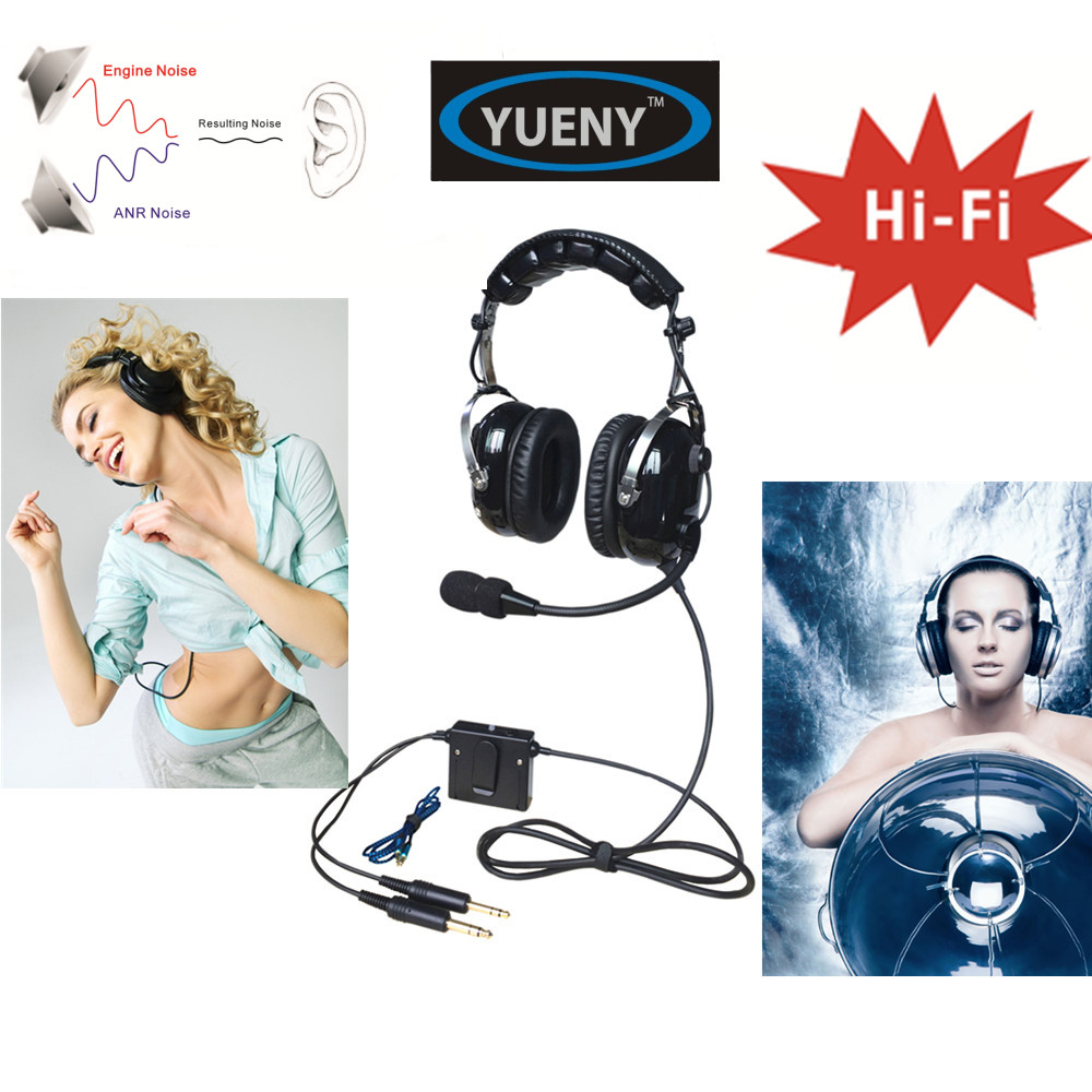 NEW YUENY ANR aviation headset TOP sky studio great ANR and Hi Fi speakers music ANR