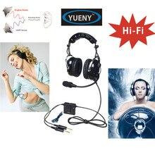 新しい yueny anr 航空ヘッドセットトップスカイスタジオ偉大な anr とハイファイスピーカー音楽 anr ah 2888