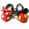 Genuine Leather Fringe Baby Moccasins Mickey and Minnie Baby Shoes bow First Walker Chaussure Bebe newborn shoes Free shipping