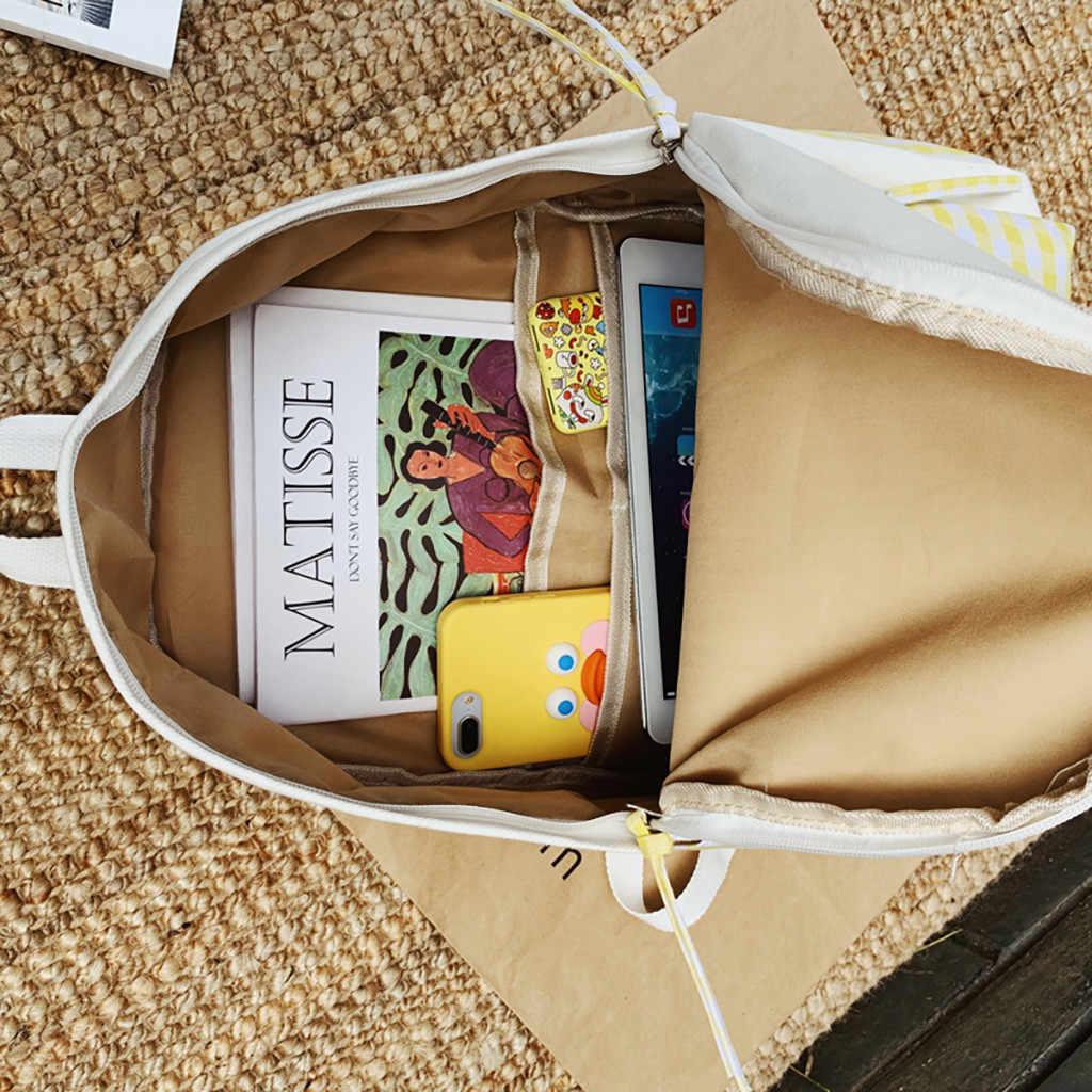 メゾン Fabre 学校のバックパック十代の少女の女性のバックパックキャンバス防水カジュアルラップトップ Bagpack 女性嚢 Do ドロップシップ 7