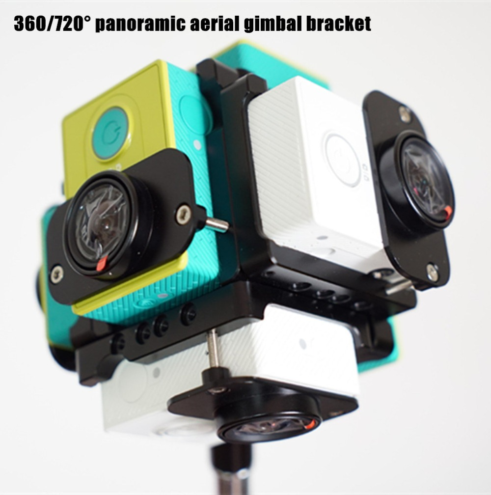 xiaoyi camera x 6 360/720 degree panoramic aerial gimbal bracket accessoriess for DIY FPV aerial multi-rotor drones
