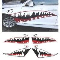 פה כריש רכב Refitting מדבקה לרכב סטיילינג מגניב אוטומטי המדבקה ויניל רעיוני מדבקות לצד דלת חיצוני