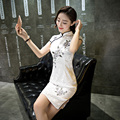 Vintage Slim Women Cheongsam Dress Linen Cheongsams Elegant Qipao China Chinese Traditional Dress Clothes for Women