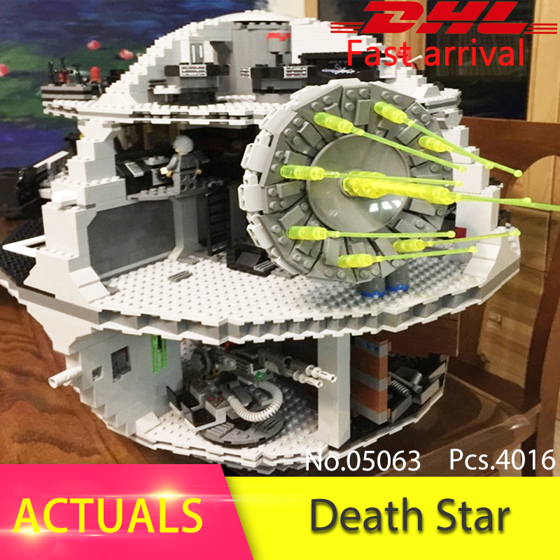 LEPIN 05063 4016Pcs  Force Waken UCS Death Educational Model Building Blocks Bricks Toys For Children Gift compatible 75159 in stock lepin 05063 4116pcs 05035 3804pcs star force waken ucs death wars model building blocks bricks toys gifts 75159 10188