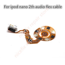 New white For ipod nano 2 2th Audio Flex Cable replacement m