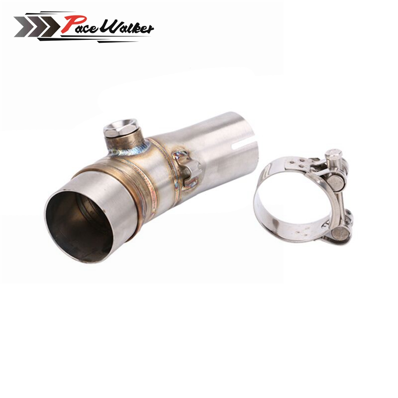 FREE SHIPPING for kawasaki ER6N Motorcycle Exhaust Pipe Muffler Escape Connecting Pipe Front Link Pipe Moto Mid Pipe