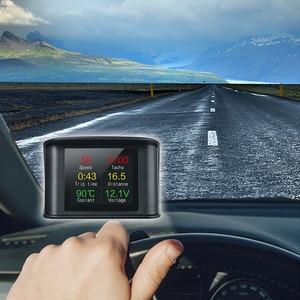 Image 5 - GEYIREN OBD II P10 GPS T600 Auto On board Computer Display Auto Digitale OBD Driving LED Display HUD kopf up display Für alle autos