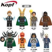Одиночная продажа Супергерои Heimdall Surtur Valkyrie Thor Палач-палач Модельные блоки для строительства Игрушки для детей X0185