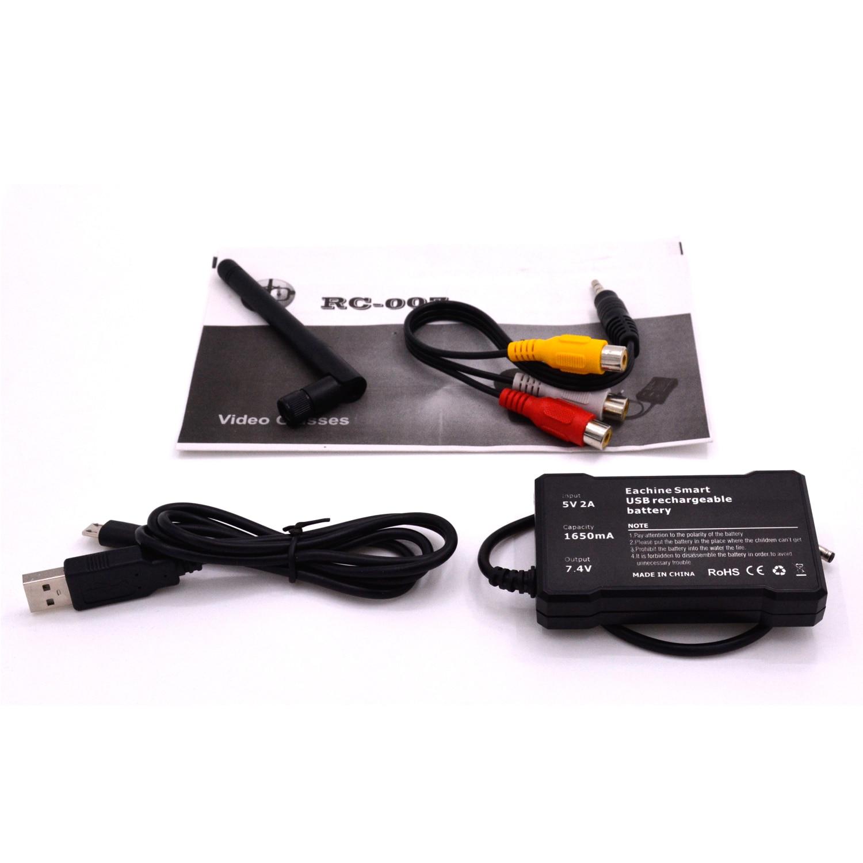 RC 007 3D 5,8G 40CH Zoll HD FPV gläser Bildschirm Empfänger + Batterteries - 4