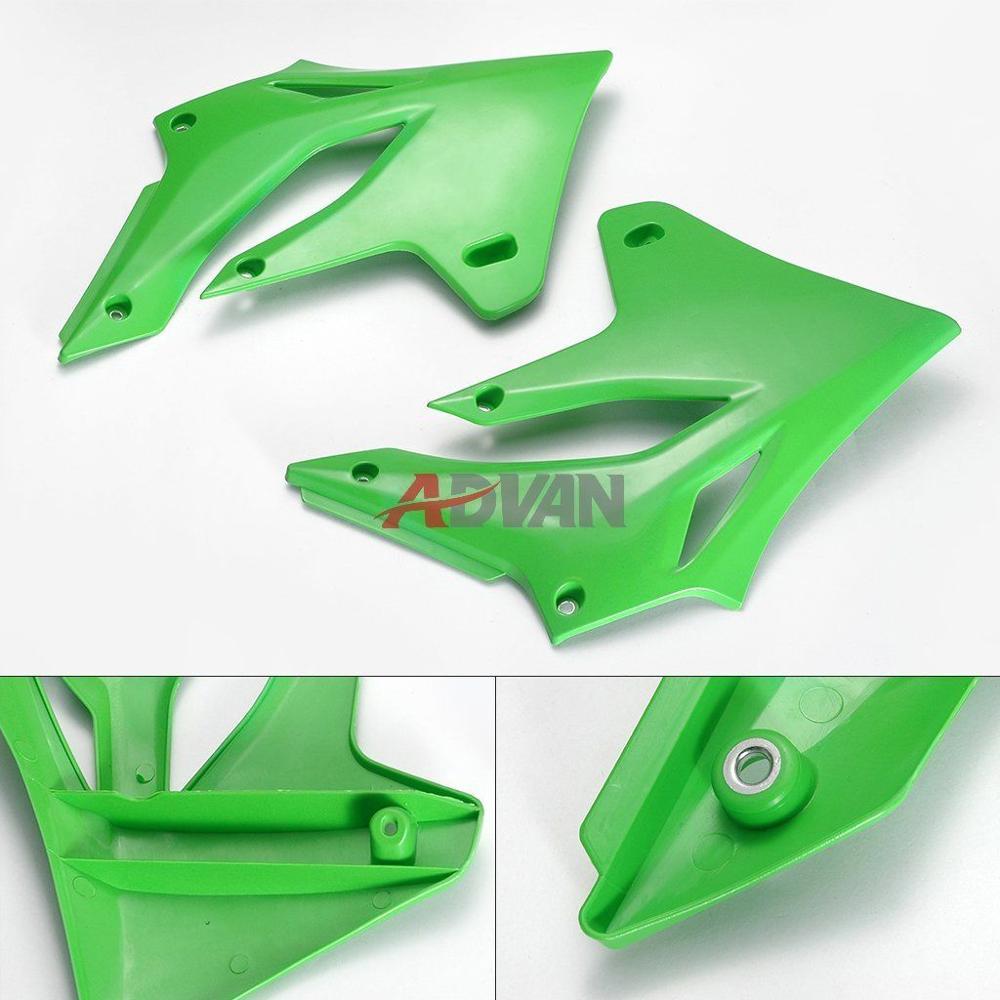 Слева и справа зеленые лицевой стороне пластиковая Крышка для Kawasaki KLX250 2004-2007