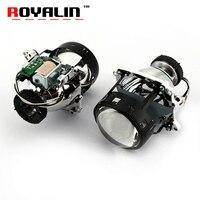 ROYALIN AL Bi Xenon Headlights Lens For BMW E46 X5 E70 Audi A3 A4 Mercedes W203