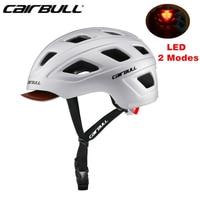 Cairbull City Road Bicycle Helmet Men Women Sports Commuting Cycling Helmet With LED Light MTB Bike Removable Brim Helmets BMX