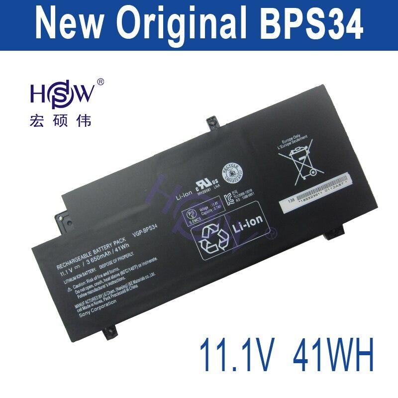 все цены на HSW New VGP-BPS34 Laptop Battery For SONY Vaio Fit 15 Touch SVF15A1ACXB SVF15A1ACXS SVF14A BPS34 VGP-BPL34 bateria akku
