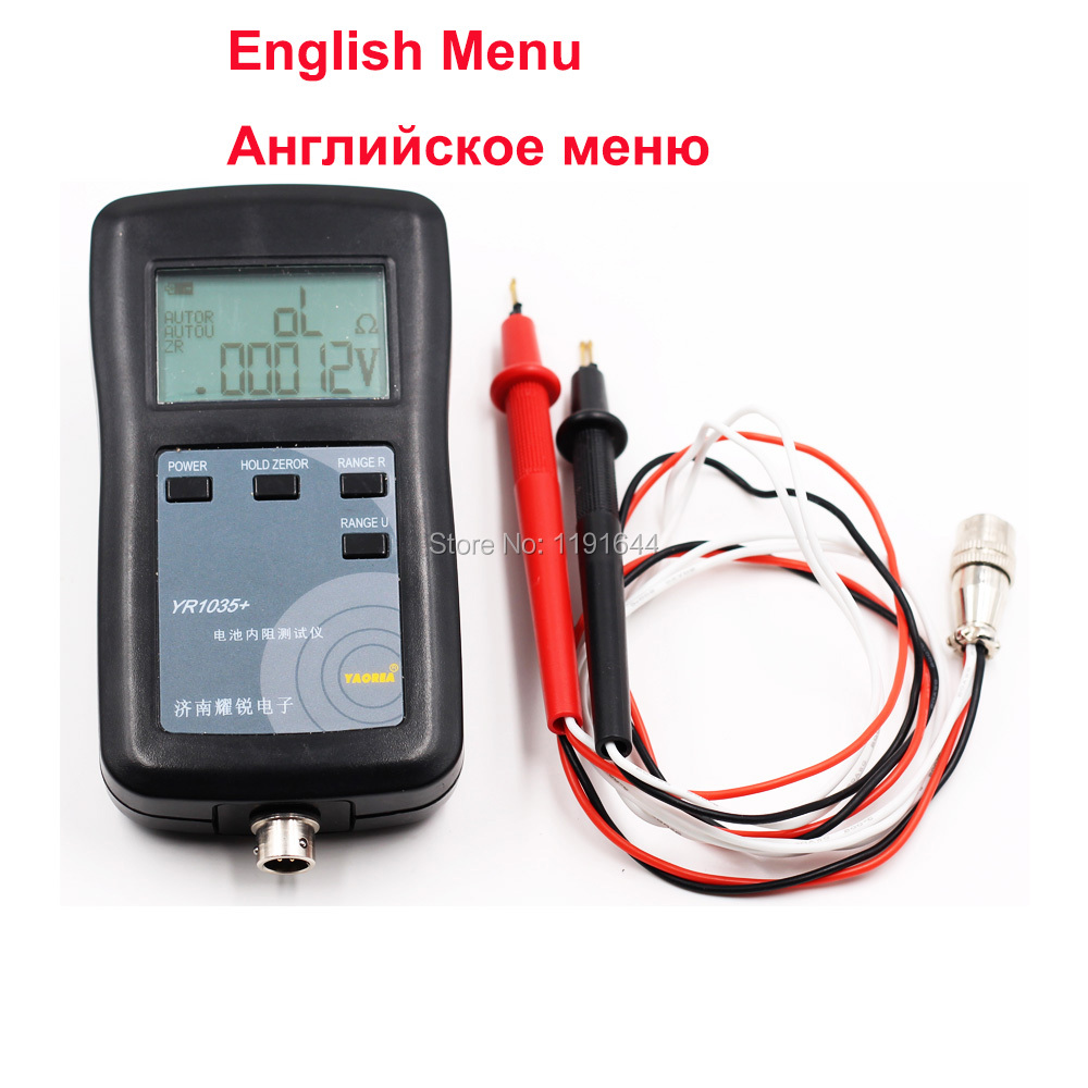 Internal-Resistance-Tester Battery YR1035 Max-100v for Ni-Mh/lead-Acid 4-Wires High-Precision