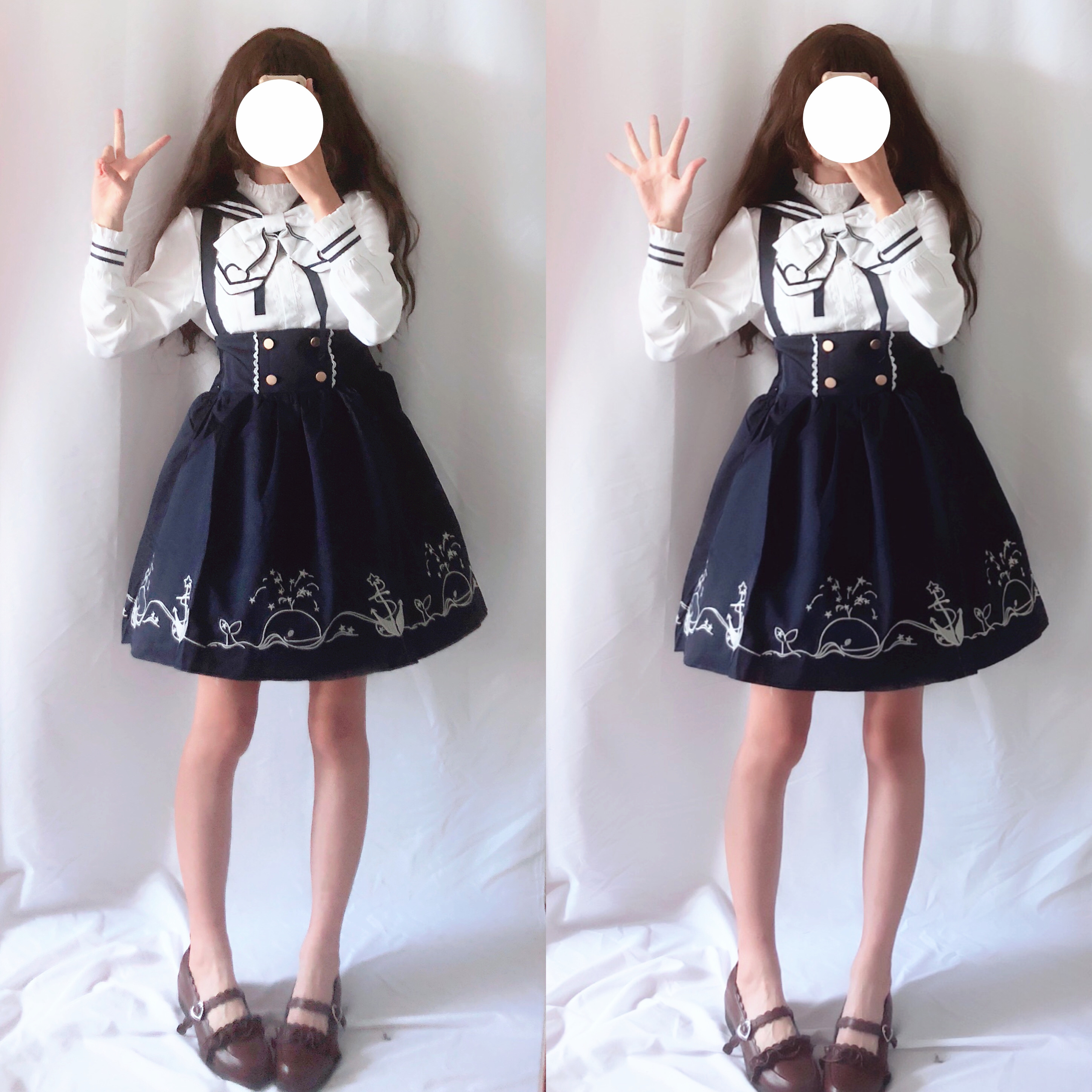 2019 Hot Sale New Spring And Autumn Department Soft Girl Lolita Daily Dress Female Student Two Suit Skirts