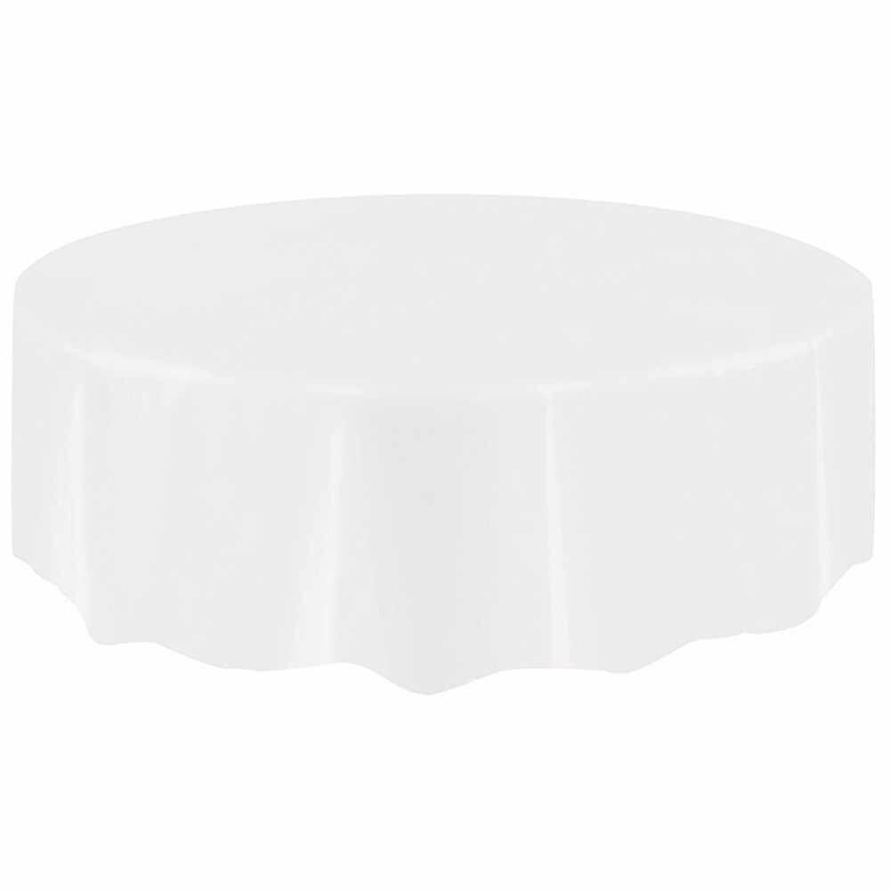 Plastik Besar Circular Meja Penutup Meja Kain Lap Bersih Taplak Meja Pesta Covers Pernikahan Ulang Tahun Pesta Cover Meja # X