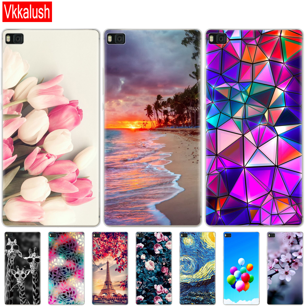 For P8 lite case Cute cartoon shell cover for fundas Huawei P8 lite case 2015 2016 Silicon soft coque for Huawei P8 lite image
