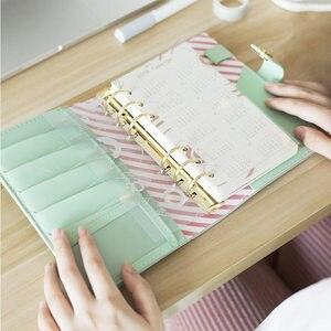 Image 4 - Yiwi Macaron Spirale Notebook In Pelle PU Originale di Office Personale Diario Planner Agenda Organizer Carino 30 millimetri Raccoglitore Ad Anelli A5 A6