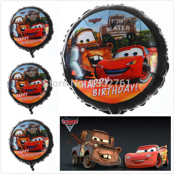 100% best quality 50pcs/lot 18inch Happy Birthday balloons Cars Balloons Party S