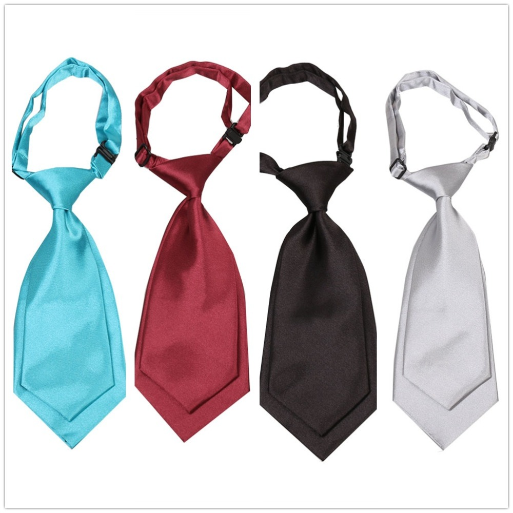 HOOYI Boys Tie Solid Fashion Cravat Small Size Necktie For Women