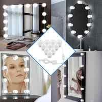 Espejo de LED maquillaje Luz de bulbo USB regulable mesa de tocador de lámpara de pared