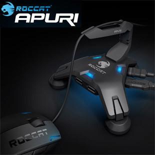 Roccat Apuri Hub USB Activo con el Amortiguador Auxiliar Del Ratón, Ratón soporte del cable, clip de cable del ratón, a Estrenar En Caja y Original, envío gratis