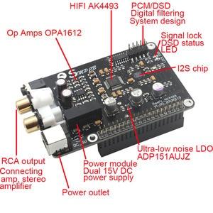 Image 3 - AK4493 DAC Decoder Board Digital Broadcast Netzwerk Player Für Raspberry Pi 2B 3B 3B + Dekodierung Zu I2S 32BIT 384KHZ DSD128